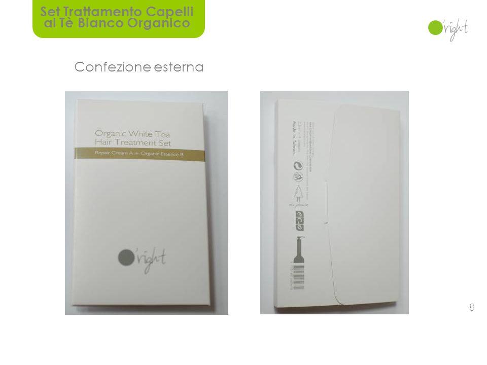 7 Riparatore capelli ECO organico Crema riparatoria A 50 ml Essenza Organica B 30 ml