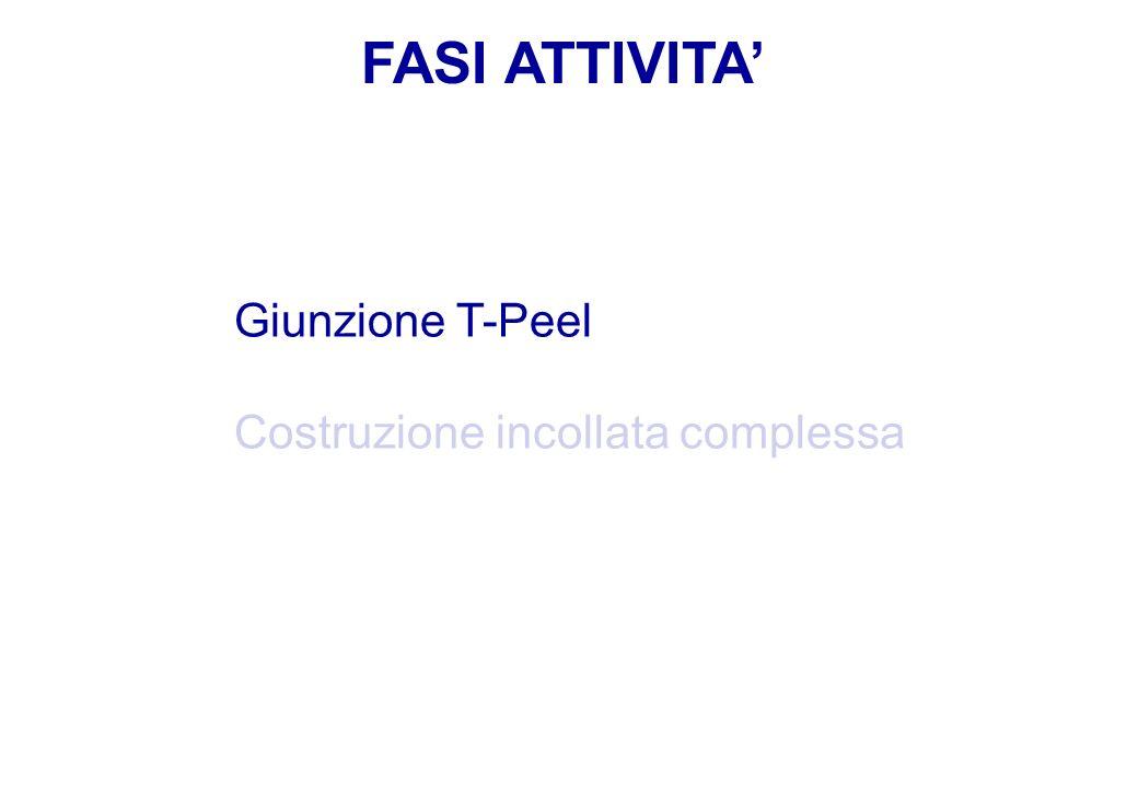 FASI ATTIVITA Giunzione T-Peel Costruzione incollata complessa