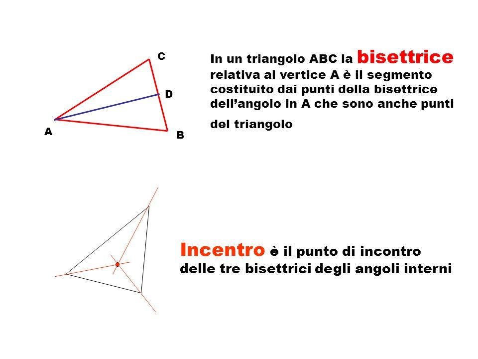 A C B angolo esterno di vertice A gli angoli esterni di un triangolo sono quelli adiacenti agli angoli interni per ogni angolo interno di un triangolo