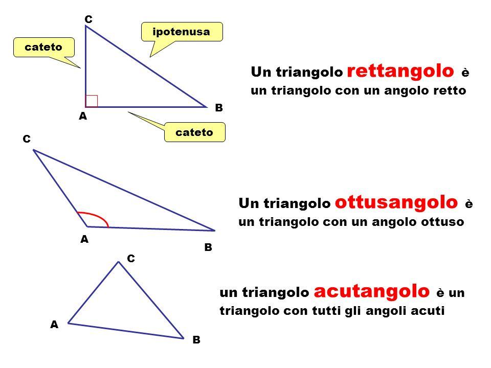 A C B Un triangolo è isoscele quando ha due lati congruenti A C B AB base BC lato obliquo AC lato obliquo C vertice A angolo alla base B angolo alla b