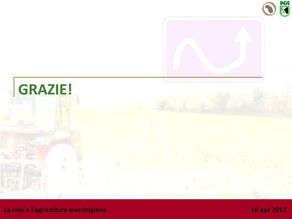 La crisi e lagricoltura marchigiana 16 apr 2012 GRAZIE!