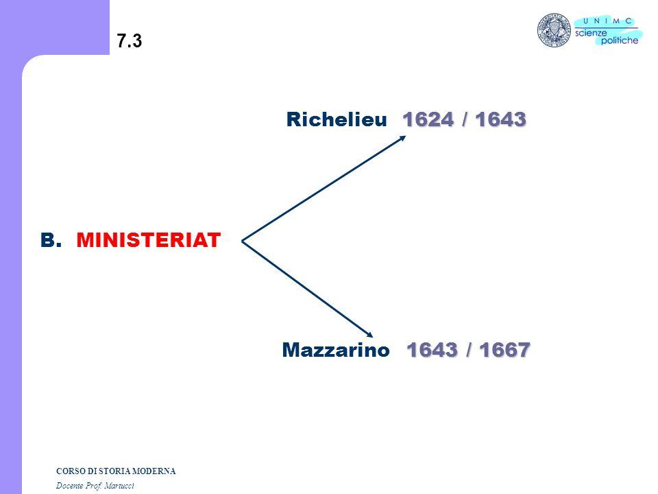 CORSO DI STORIA MODERNA Docente Prof. Martucci 7.2 A. Strutture transitorie a) Reggenza b) Polisinodia 1715/1723 1) Maria de Medici 1610/1617 (Luigi X