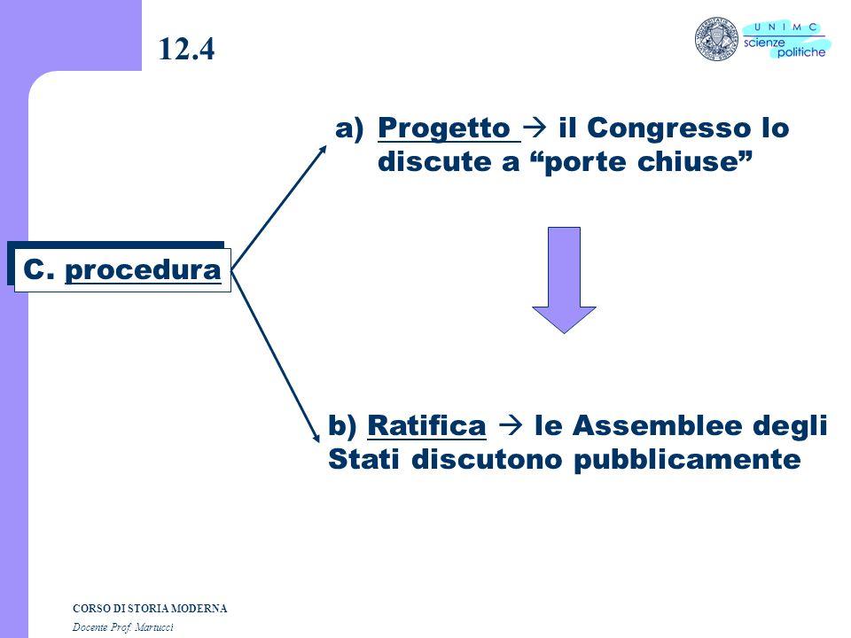 CORSO DI STORIA MODERNA Docente Prof. Martucci 12.3 B. Perché si riunisce la Convenzione federale? B. Perché si riunisce la Convenzione federale? a)17