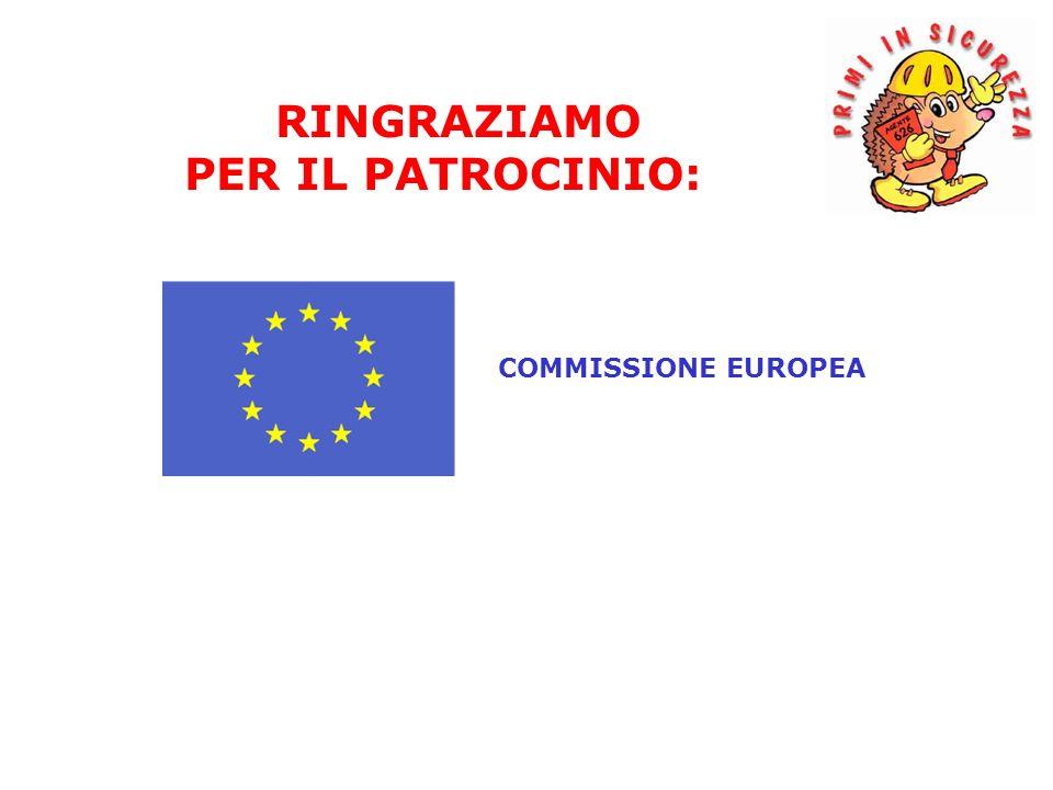 COMMISSIONE EUROPEA RINGRAZIAMO PER IL PATROCINIO: