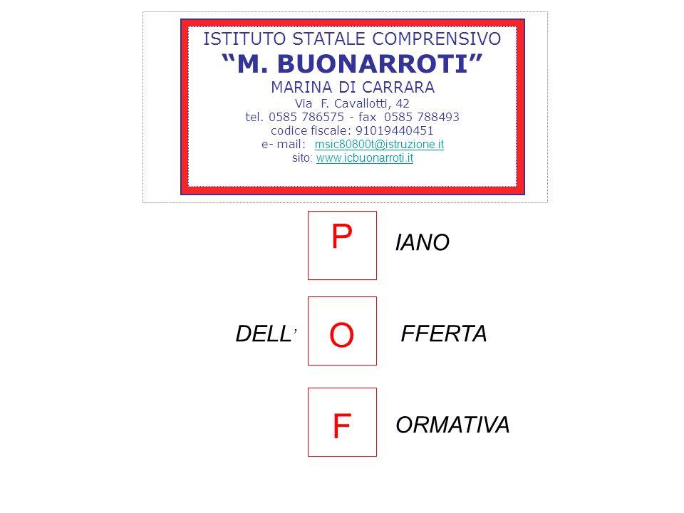 ISTITUTO STATALE COMPRENSIVO M. BUONARROTI MARINA DI CARRARA Via F. Cavallotti, 42 tel. 0585 786575 - fax 0585 788493 codice fiscale: 91019440451 e- m
