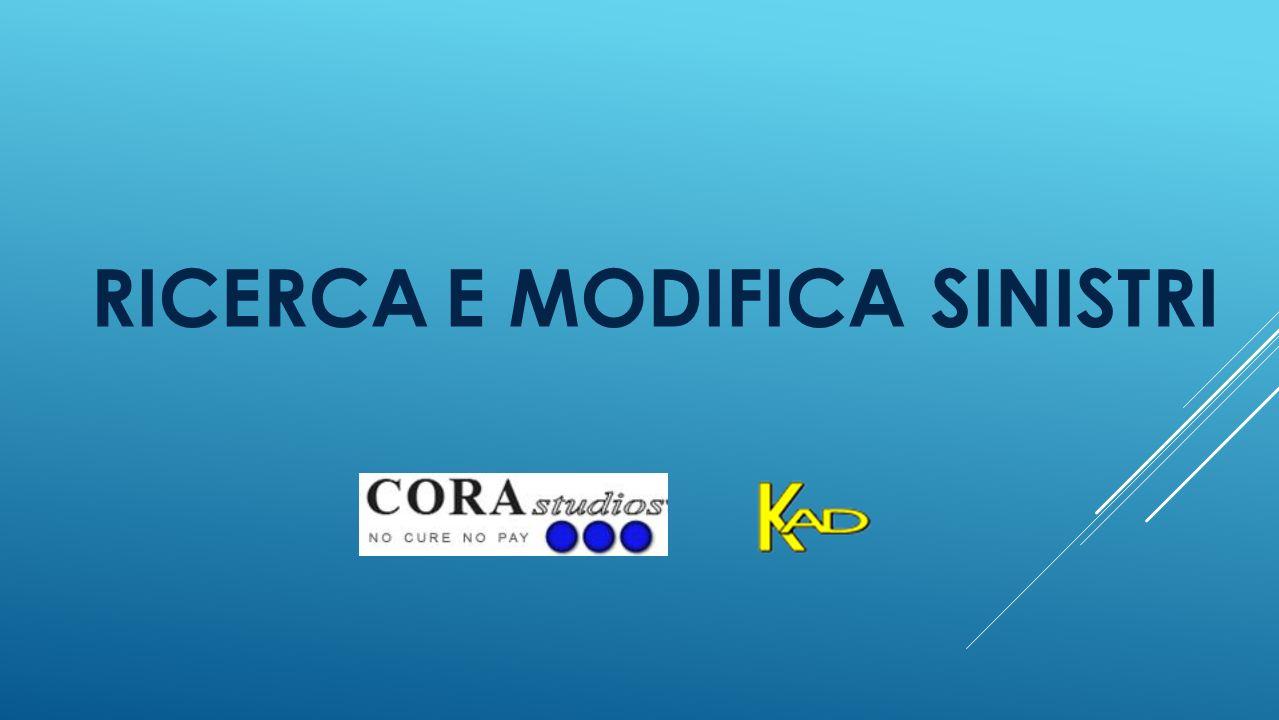 RICERCA E MODIFICA SINISTRI