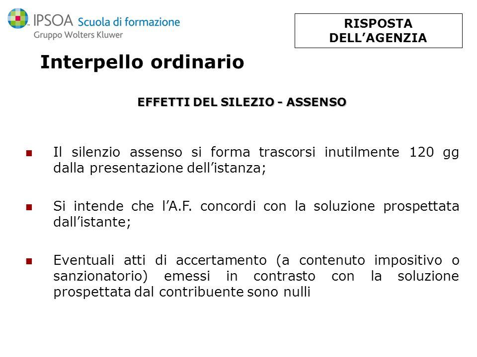 Interpello ordinario - SUCCESSIVA RETTIFICA DELL A.F.