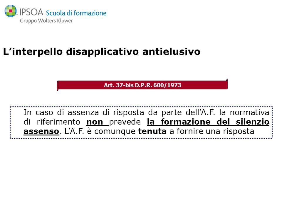 Interpello speciale antielusivo Norma introduttiva -» Norma introduttiva -» Articolo 21 della legge 30 dicembre 1991, n.