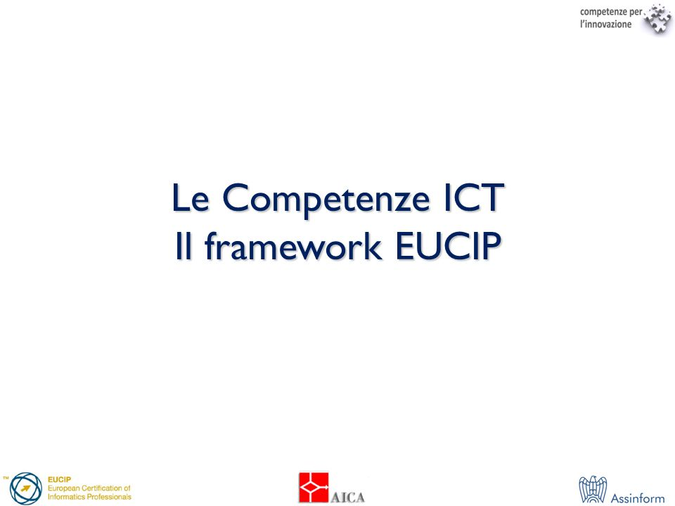Computing Components & Architecture Computing Components & Architecture Operating Systems Communications & Networks Network Services Wireless & Mobile Computing Network Management Service Delivery & Support EUCIP– Syllabus categories