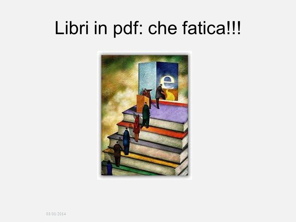 03/01/2014 Libri in pdf: che fatica!!!