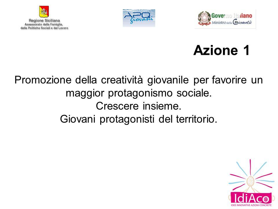 Azione 1 Promozione della creatività giovanile per favorire un maggior protagonismo sociale.