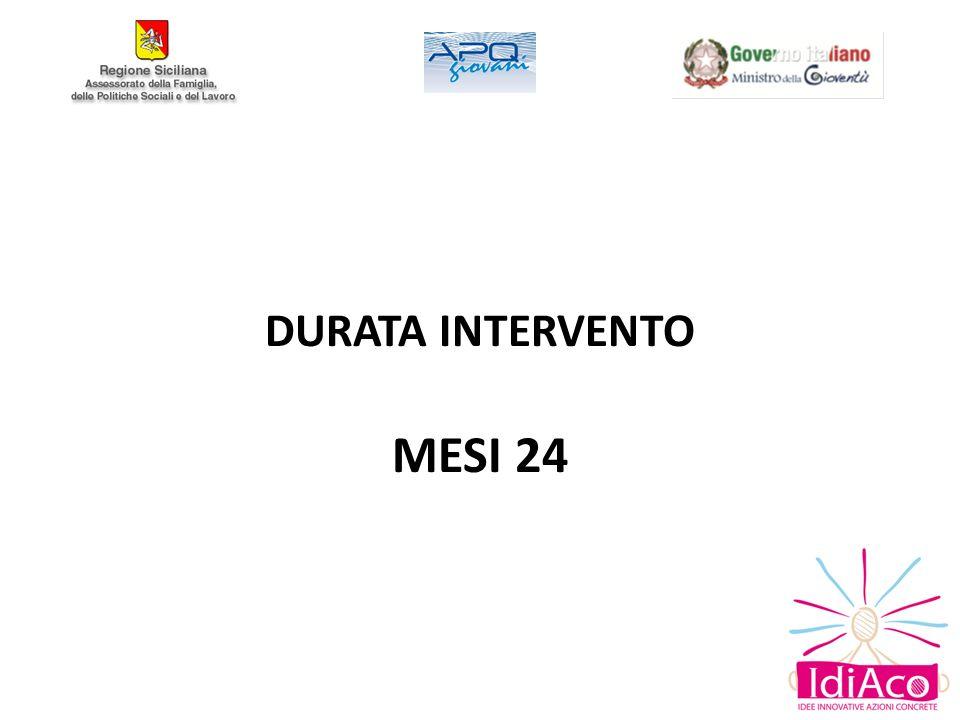 DURATA INTERVENTO MESI 24