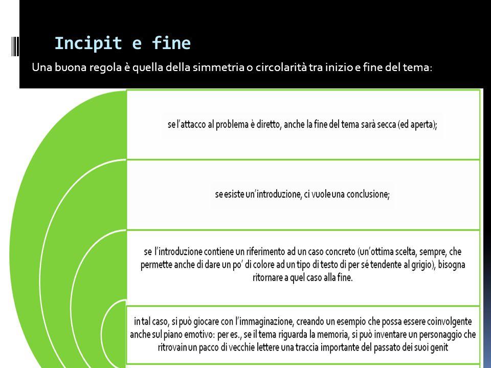 Incipit e fine Francesca Meneghetti, novembre 2008 18 Una buona regola è quella della simmetria o circolarità tra inizio e fine del tema: