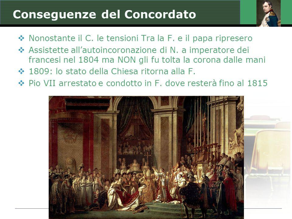 Jacques Louis David: Incoronazione di Napoleone Conseguenze del Concordato Nonostante il C. le tensioni Tra la F. e il papa ripresero Assistette allau