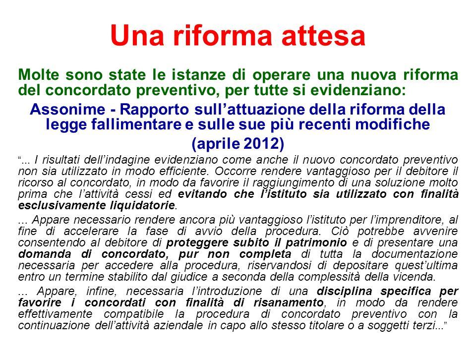 Una riforma attesa Determinazione AVCP n.