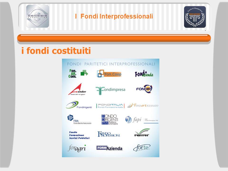 I Fondi Interprofessionali i fondi costituiti