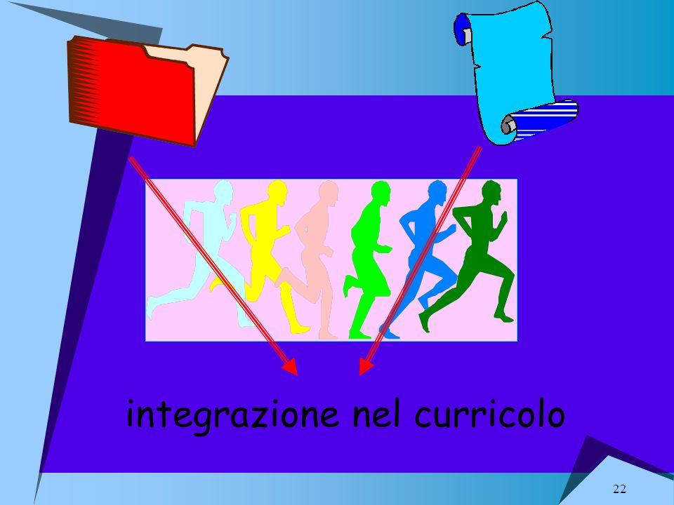 22 integrazione nel curricolo