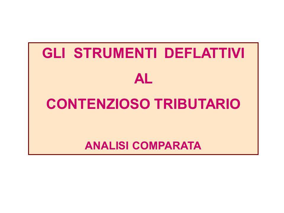 GLI STRUMENTI DEFLATTIVI AL CONTENZIOSO TRIBUTARIO ANALISI COMPARATA