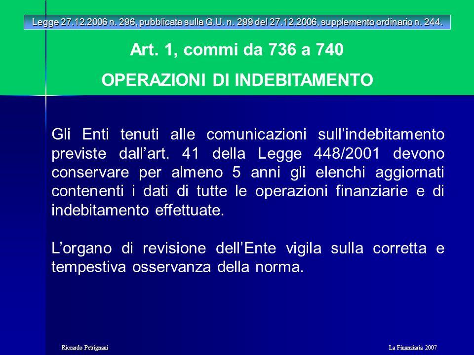 La Finanziaria 2007 Riccardo Petrignani Art.