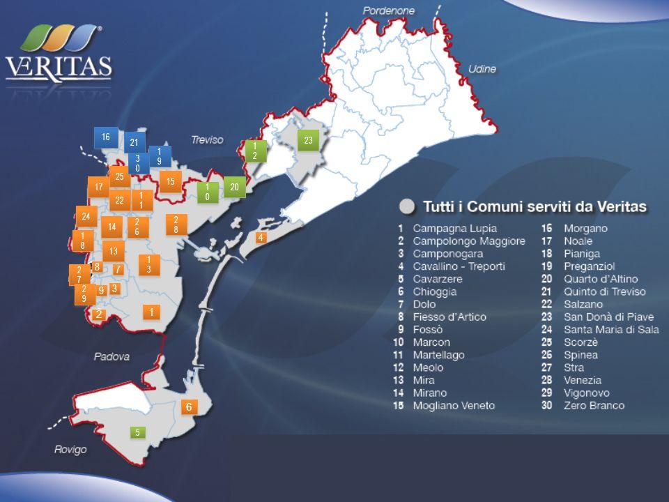 numero utenti: numero contratti) nel calcolo degli allacciati alla fognatura sono esclusi i residenti in L206 tutti i dati riportati sono ancora provvisori IGIENE URBANA N utenti 187.132 T rifiuti 167.426 % RD 38,49% Tipologia servizio porta a porta, Campane, cassonetti /calotte, isole interrate ACQUA N utenti 124.485 m 3 acqua fatturata 34.866.696 % allacciati fognatura 98,00% Km rete acquedotto 1.282 Km rete fognatura 1.127 ISPETTORI AMBIENTALI CIMITERI VERDE anno di riferimento:2012 Comune di: Venezia numero residenti:269.127 N verbali 1.036 N azioni info 2.872 N cimiteri 16 N sepolture 4.296 Superficie 2.781.174 m 2 Abbattimenti /reimpianti 819/166 (reimpianti effettuati nel 2013) N interventi per atti vandalici 33