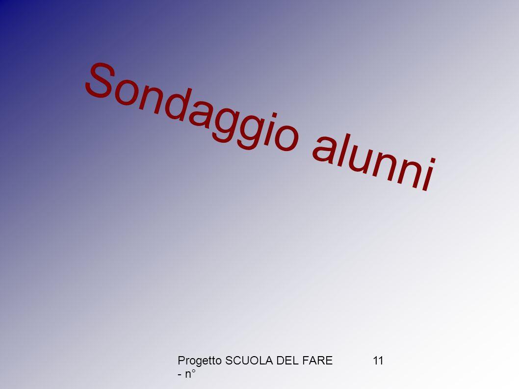 Progetto SCUOLA DEL FARE - n° 11 Sondaggio alunni