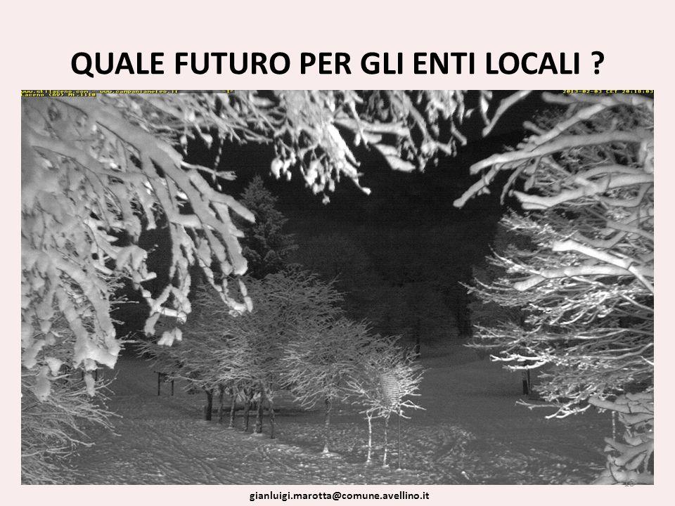 QUALE FUTURO PER GLI ENTI LOCALI 15 gianluigi.marotta@comune.avellino.it