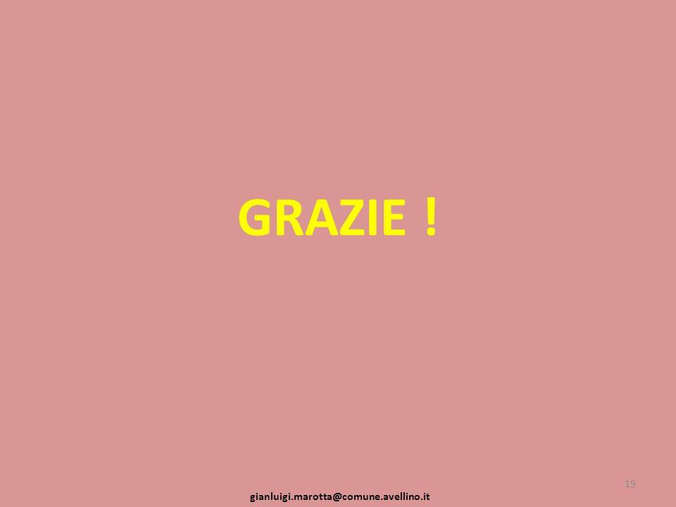 GRAZIE ! 19 gianluigi.marotta@comune.avellino.it