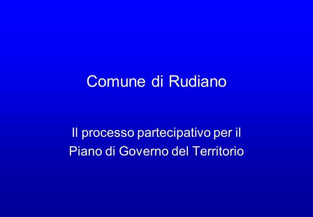 Comune di Rudiano Il processo partecipativo per il Piano di Governo del Territorio
