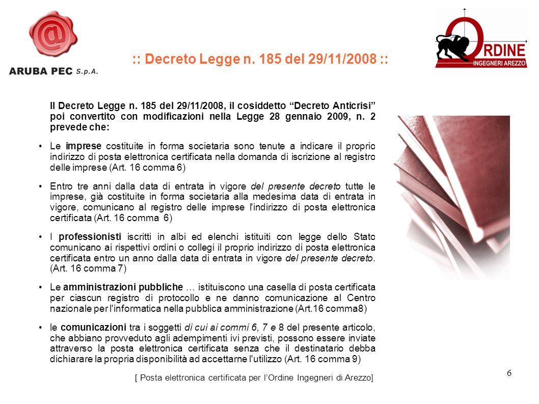 6 Il Decreto Legge n.