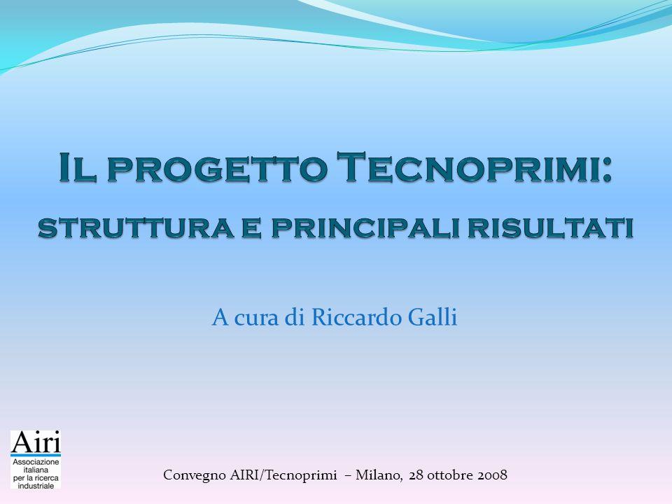 A cura di Riccardo Galli Convegno AIRI/Tecnoprimi – Milano, 28 ottobre 2008