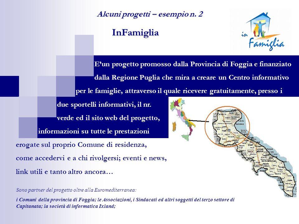 InFamiglia Eun progetto promosso dalla Provincia di Foggia e finanziato dalla Regione Puglia che mira a creare un Centro informativo per le famiglie,