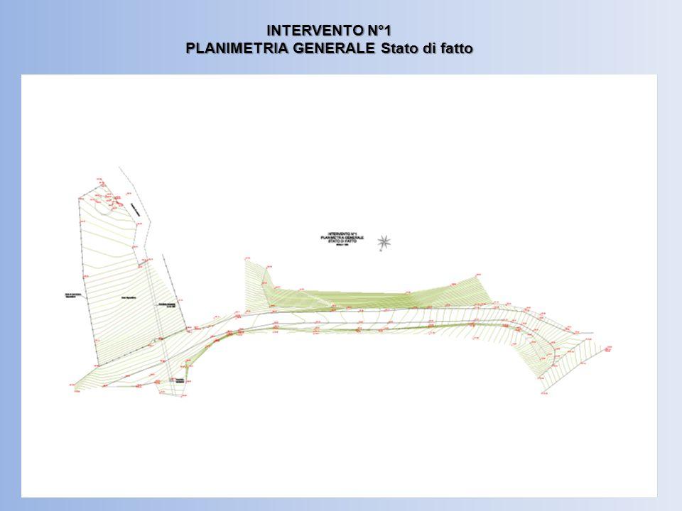INTERVENTO N°1 PLANIMETRIA GENERALE Stato di progetto