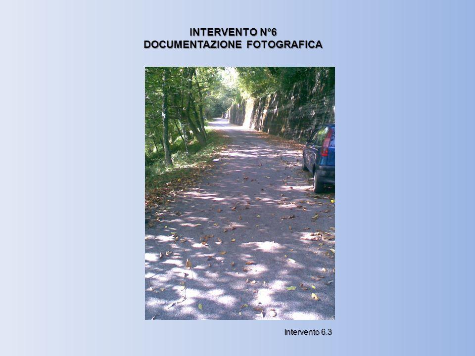 INTERVENTO N°6 DOCUMENTAZIONE FOTOGRAFICA Intervento 6.3