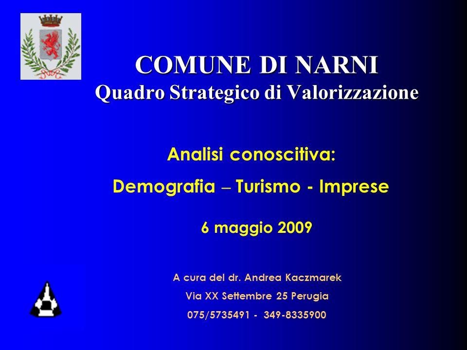 COMUNE DI NARNI Quadro Strategico di Valorizzazione 6 maggio 2009 A cura del dr.
