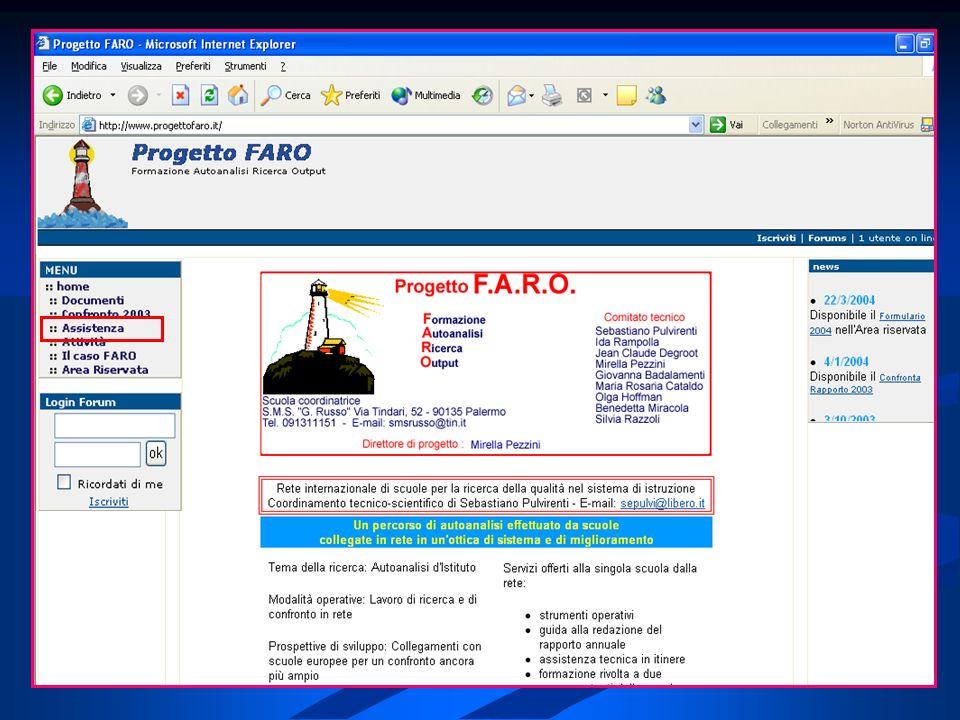 Da questa sezione potete inserire le informazioni relative ai docenti: nome, qualifica, materia di insegnamento, se è referente del progetto FARO, ed il suo indirizzo email.