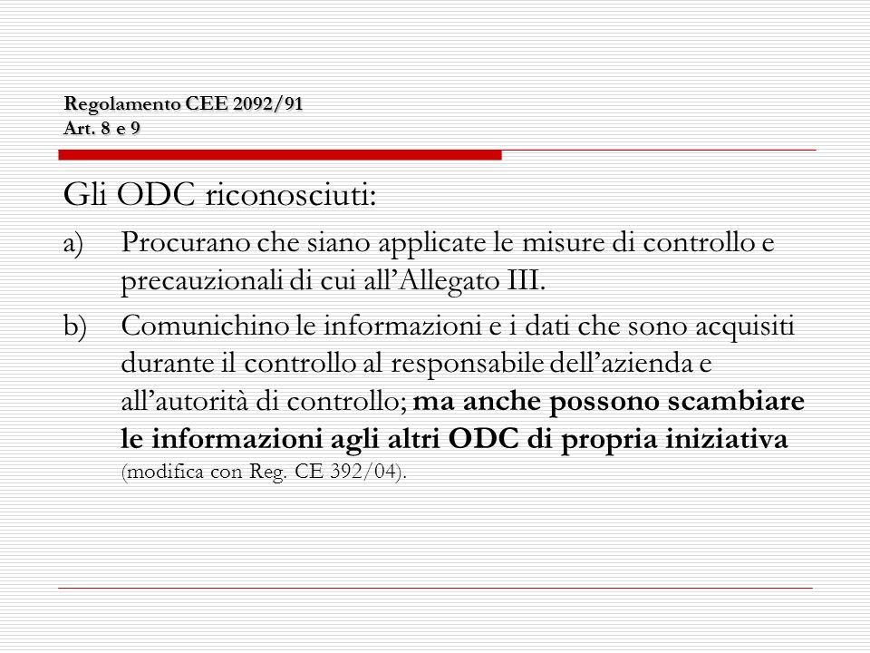 Regolamento CEE 2092/91 Art.