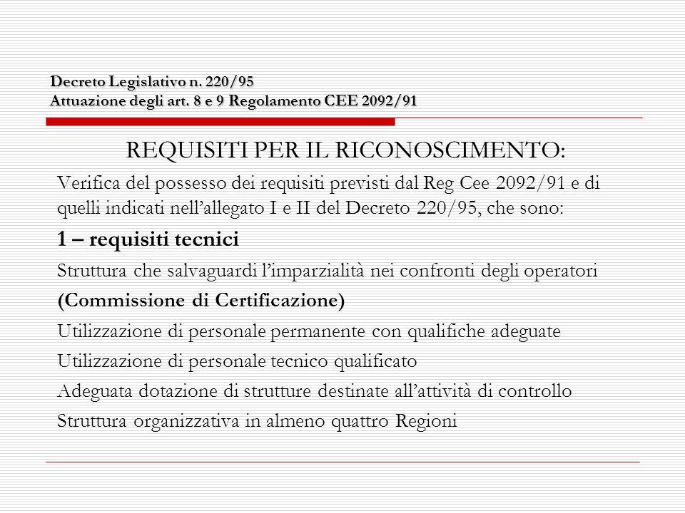 Struttura sanzionatoria 2.INFRAZIONI: consiste in una inadempienza, manifesta o avente effetti prolungati, degli obblighi prescritti dalla Norma CEE che renda inaffidabile loperatore e lo status di conformità dei prodotti.