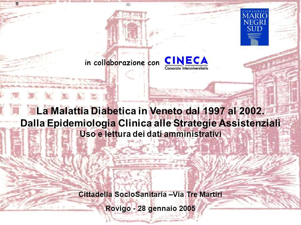 in collaborazione con La Malattia Diabetica in Veneto dal 1997 al 2002.