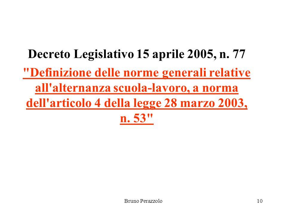 Bruno Perazzolo10 Decreto Legislativo 15 aprile 2005, n.