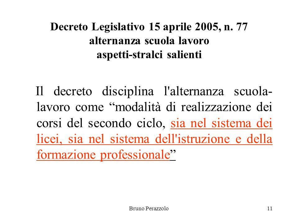 Bruno Perazzolo11 Decreto Legislativo 15 aprile 2005, n.