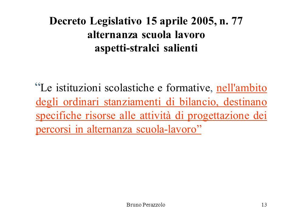 Bruno Perazzolo13 Decreto Legislativo 15 aprile 2005, n.