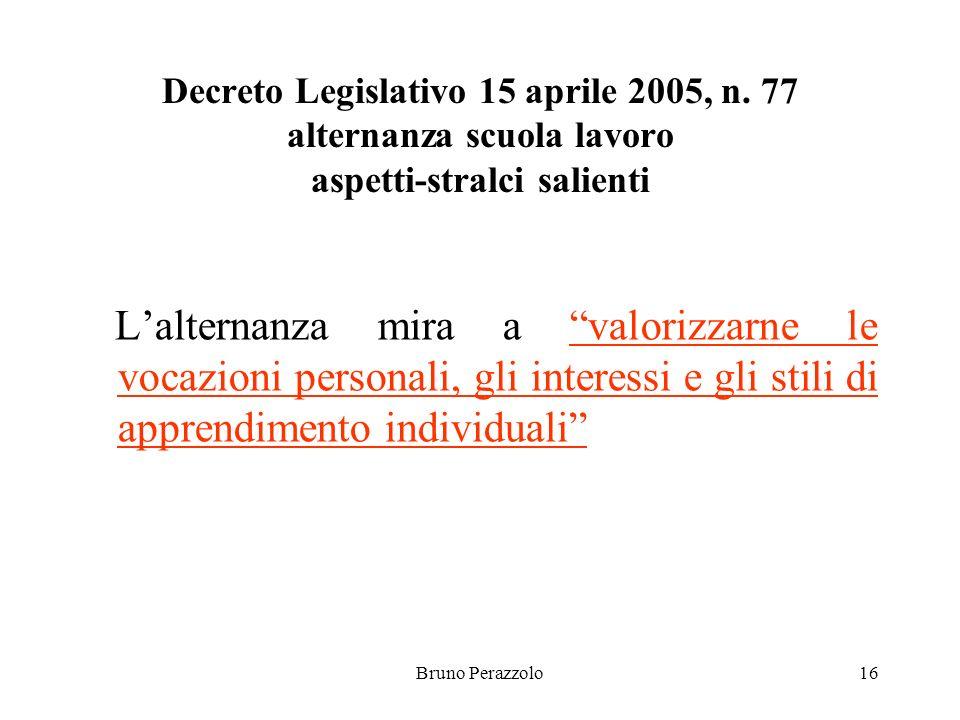 Bruno Perazzolo16 Decreto Legislativo 15 aprile 2005, n.