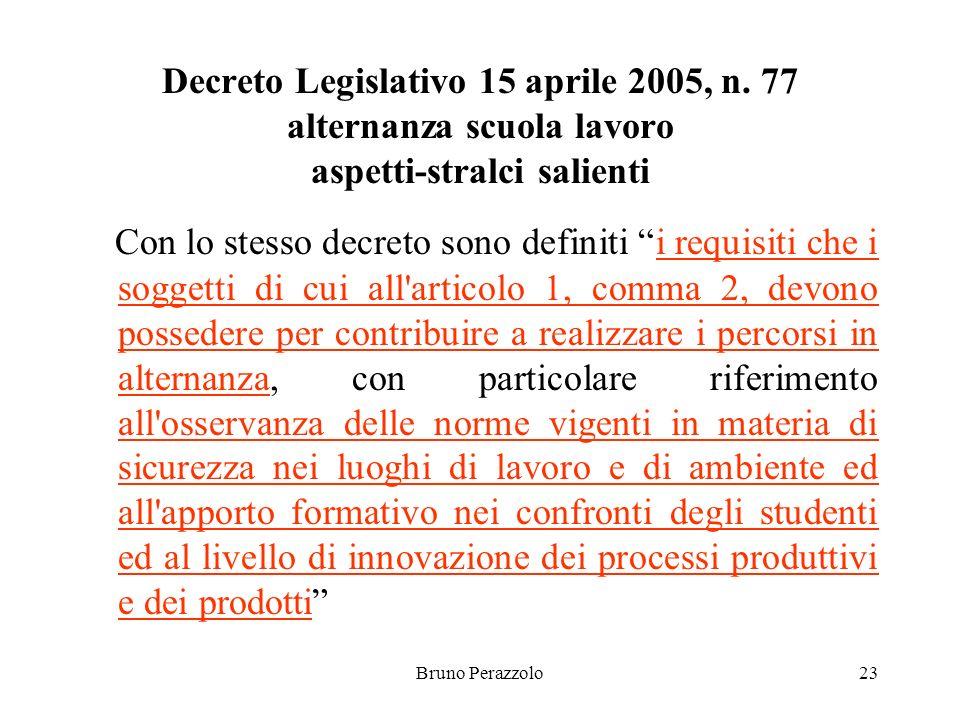 Bruno Perazzolo23 Decreto Legislativo 15 aprile 2005, n.