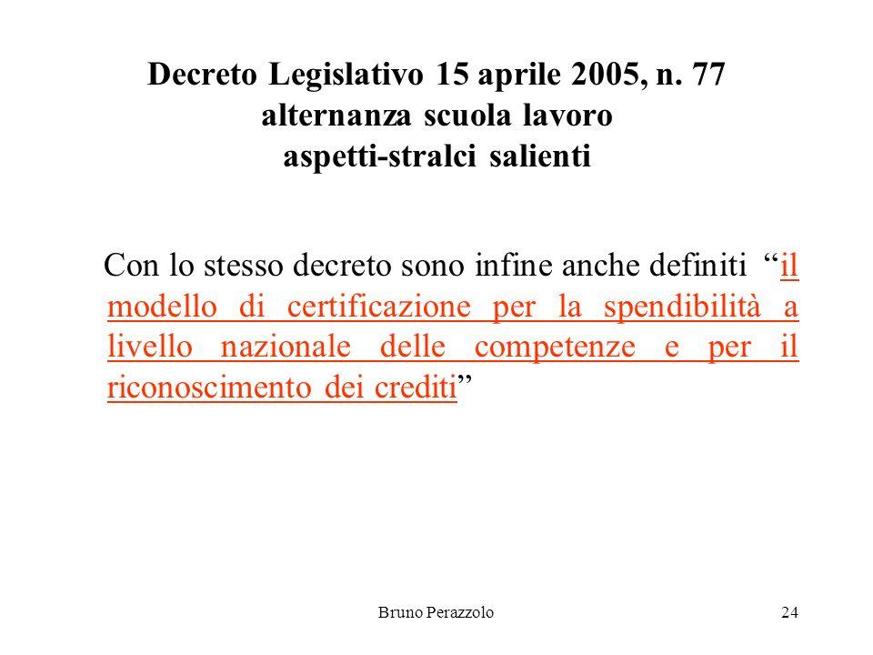 Bruno Perazzolo24 Decreto Legislativo 15 aprile 2005, n.