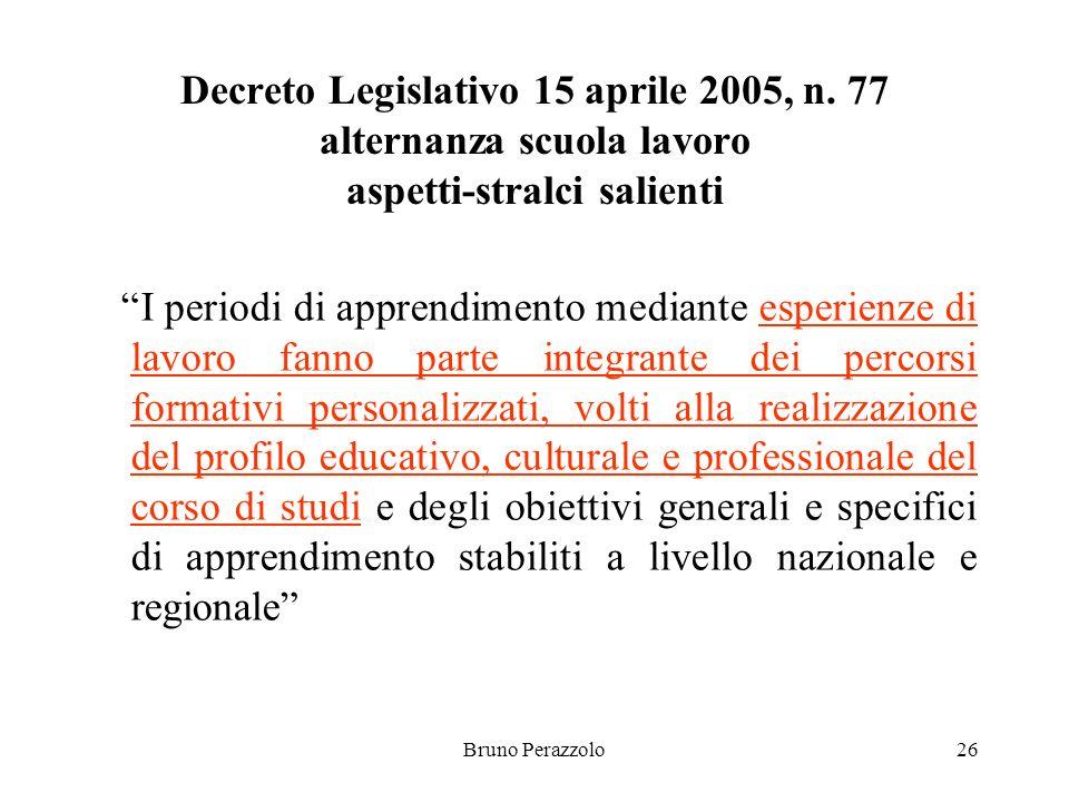 Bruno Perazzolo26 Decreto Legislativo 15 aprile 2005, n.