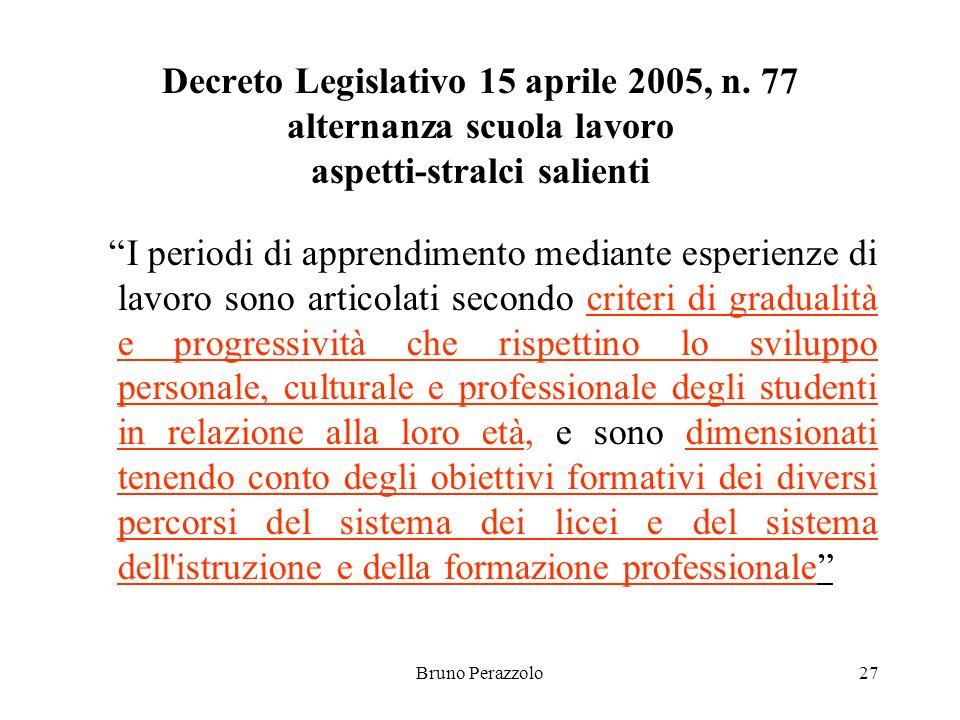 Bruno Perazzolo27 Decreto Legislativo 15 aprile 2005, n.
