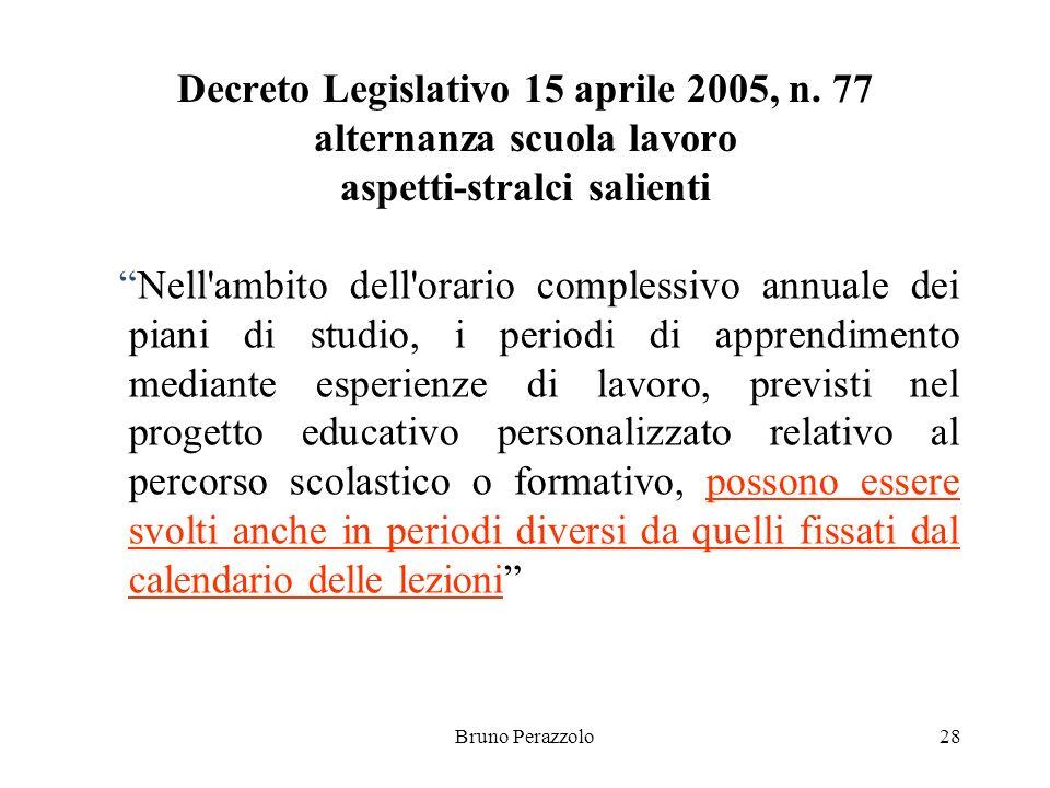 Bruno Perazzolo28 Decreto Legislativo 15 aprile 2005, n.