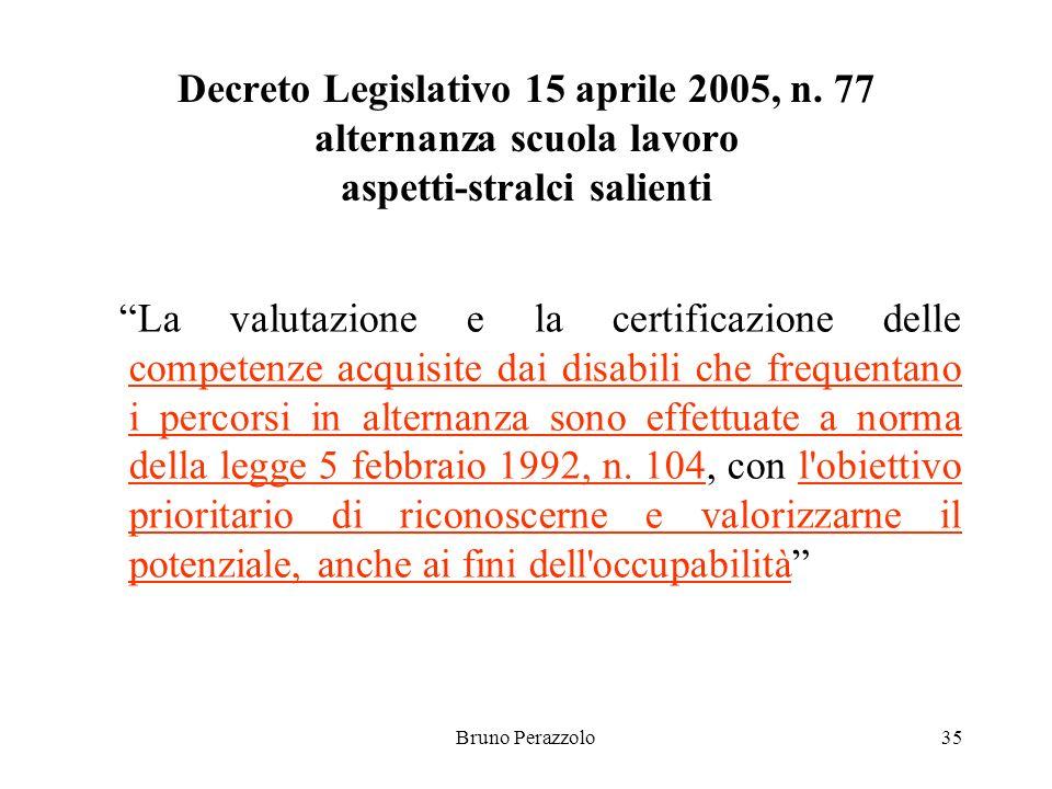 Bruno Perazzolo35 Decreto Legislativo 15 aprile 2005, n.