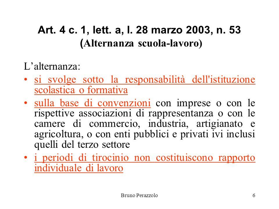Bruno Perazzolo6 Art. 4 c. 1, lett. a, l. 28 marzo 2003, n.