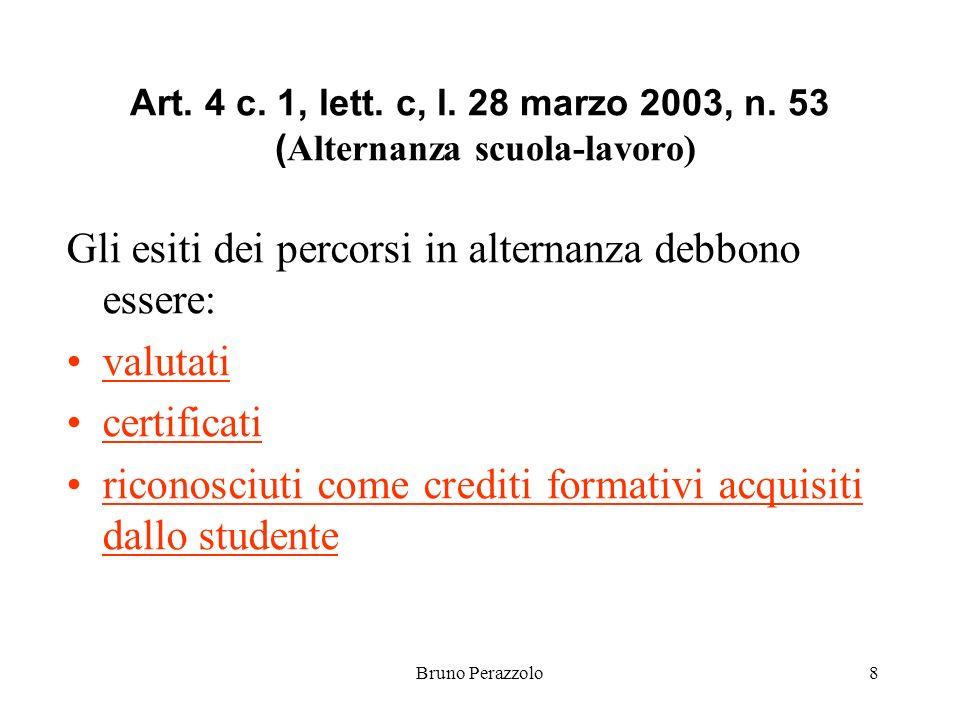 Bruno Perazzolo8 Art. 4 c. 1, lett. c, l. 28 marzo 2003, n.